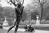 Rodin Sculpture in the  Jardin des Tuileries - Paris,  1981