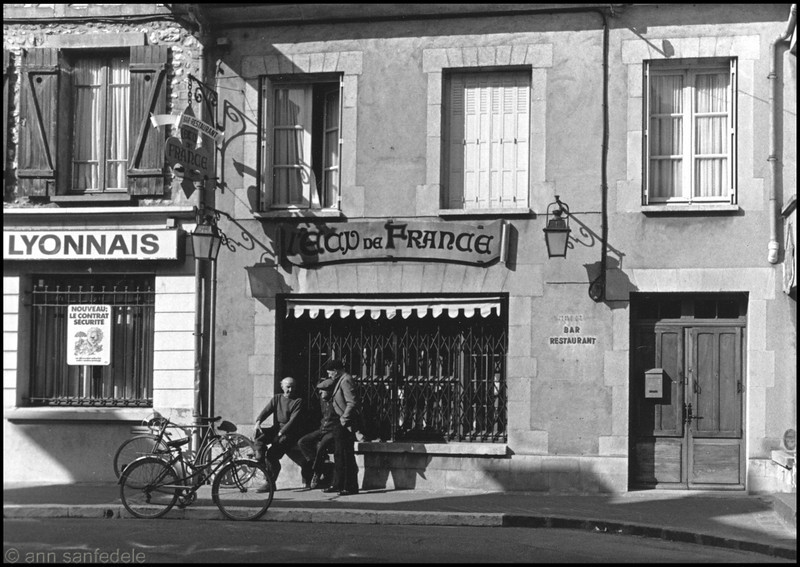 A street in Moret Sur Loigne, France - 1981