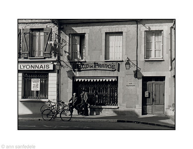 A street in Moret Sur Loing, France - 1981
