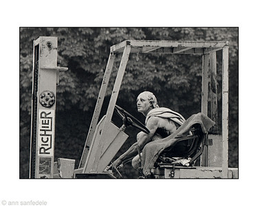 Forklift driver at Versailles