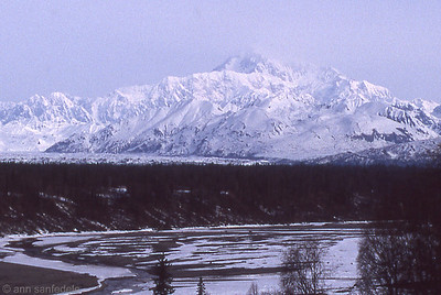 Denali from thei overlook along the Georges Park Highway  May 11th, 1992 8:30 am