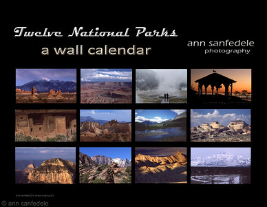 National parks calendar cover