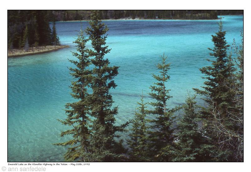 Emerald Lake , Yukon  May 25th, 1992
