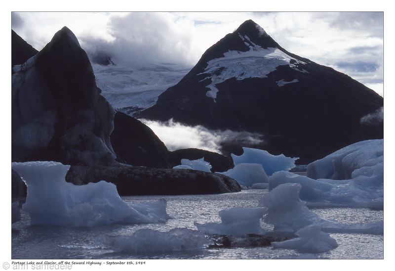 Portage lake glacier in background sept 8th 1989 around 10 am