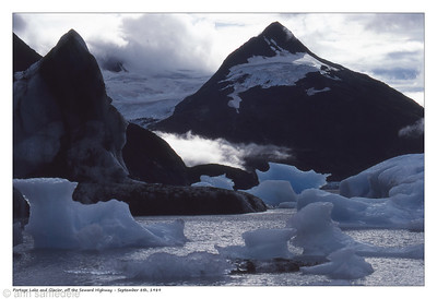 Portage lake glacier in background sept 8th 1989 around 10 am