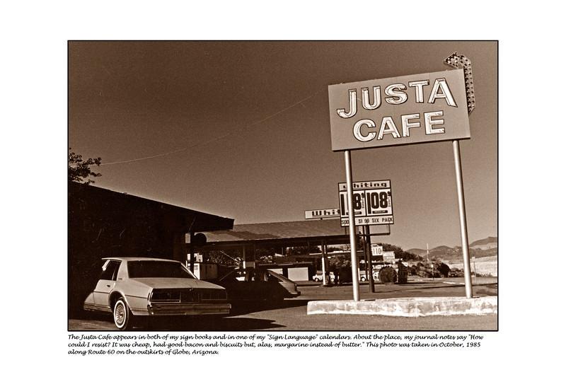 Justa cafe Sepia tone for 2012 calendar