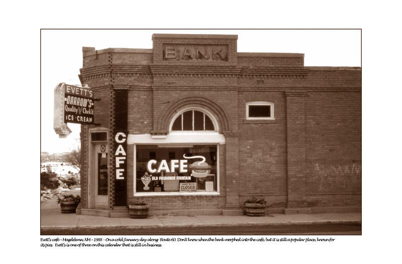 Evett's cafe, Magdelena, NM - 1988