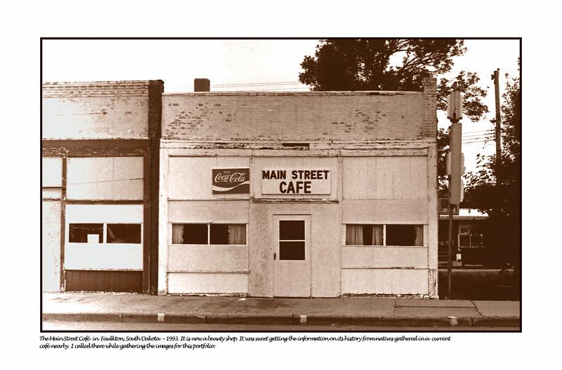Main Street Cafe, Faulkton, South Dakota - 1993