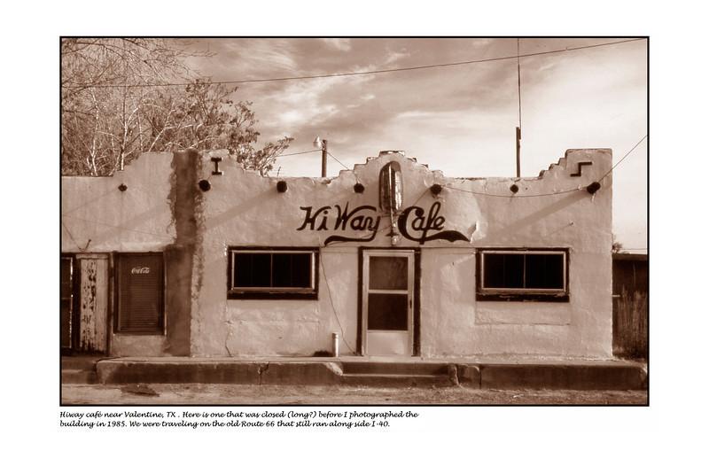 Valentine Texas - Hi_way cafe - Jan or Feb 1985 <br /> 64-34