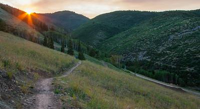#65 Sunset on Sunrise trail / Canyons Utah
