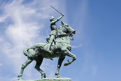 Statue, Jardin Jeanne D'Arc, Quebec City