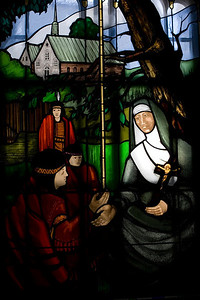 Stained Glass Window,Chapelle des Ursulines, Quebec City