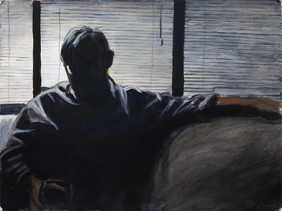 Untitled (NYC), acrylic on paper, 22 x 30 in, 2007