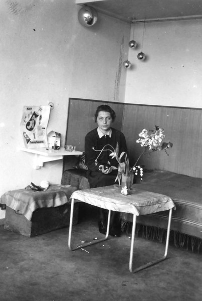 Stölzl in her studio Apartment