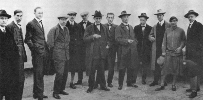 The Bauhaus Masters on the Dessau Roof