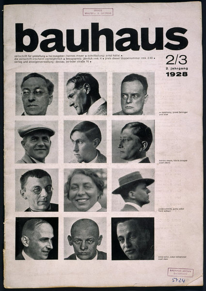 Cover of Bauhaus journal No. 2/3 1928