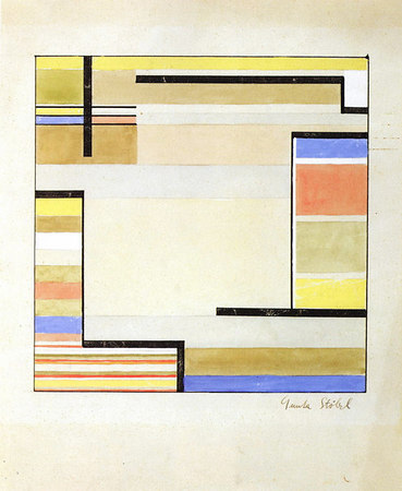 Design for a carpet 1926/27  20.5x20 cm Bauhaus-Archiv Berlin