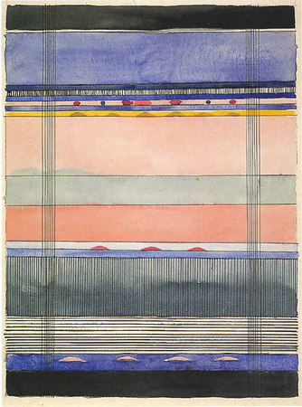 Design for a wall hanging  Undated  38x27.5 cm  Stiftung Bauhaus Dessau
