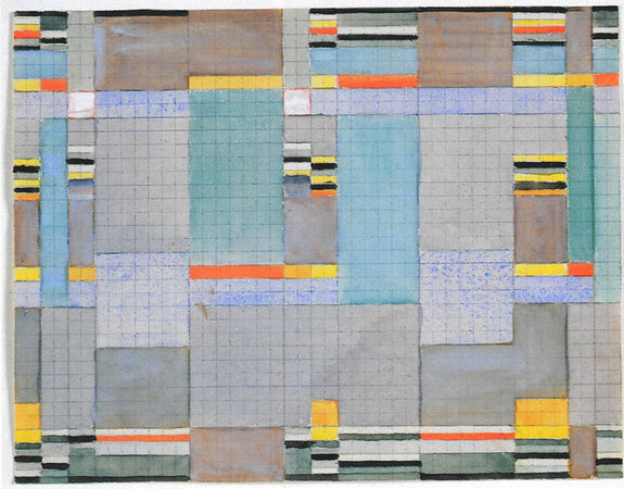 Design for a double-weave   Bauhaus Dessau  17.5x22.5 cm  Museum of Modern Art, New York