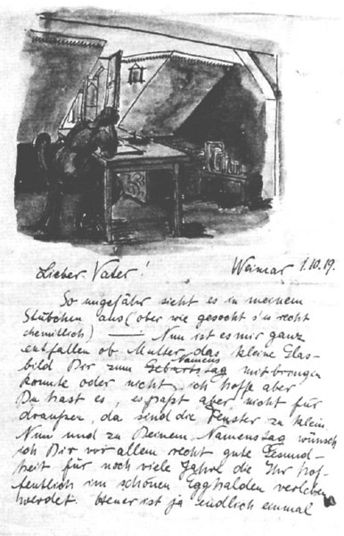 Letter From Stölzl to Her Father