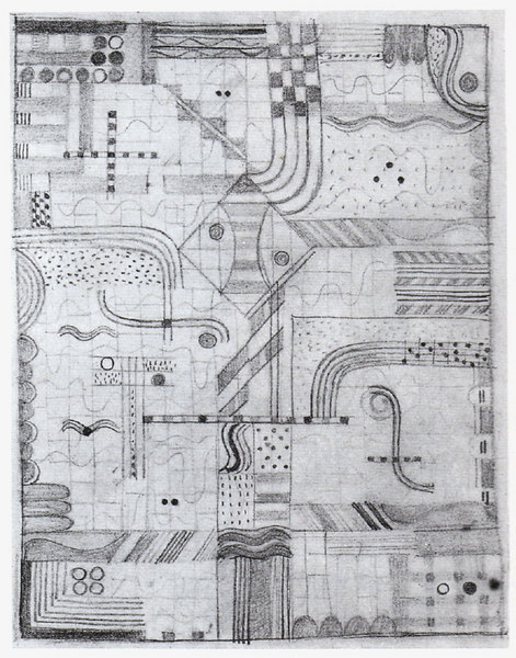 """Design for a Knotted Carpet """"Gesellenarbeit"""""""