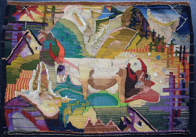 "Wall Hanging - ""Cows in Landscape"" - Backside"