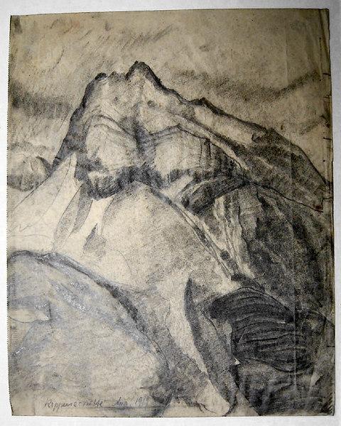 "Untitled<br /> Bottom left: ""Rappenseehütte Aug.1919""<br /> 33.5x27.5 cm<br /> Private collection"