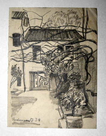 Pordenone July 27th 1918<br /> <br /> 22x16.5cm