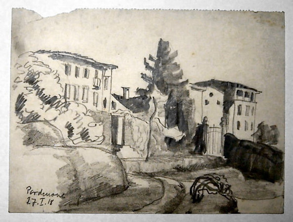 Pordenone January 27th, 1918<br /> <br /> 16.5x22cm