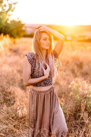 Melanie und der Sonnenuntergang