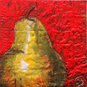 "2006 5"" x 5"" encaustic on board"
