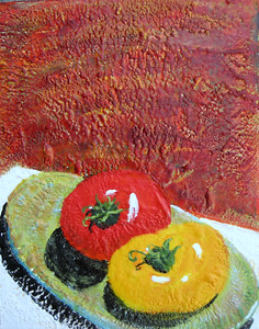 "2007 11"" x 14"" encaustic on board"