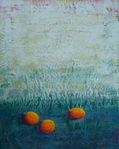 "2007 16"" x 20"" encaustic on board"