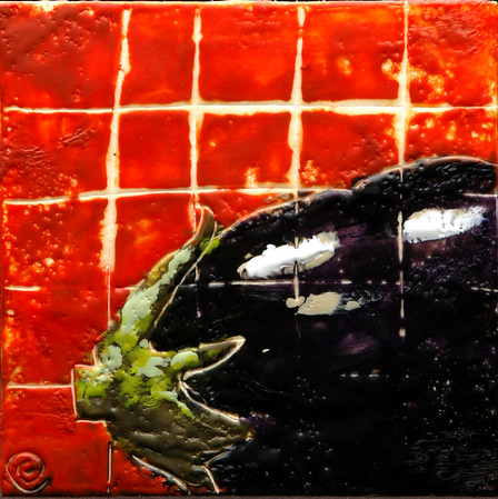 "2006 6"" x 6"" encaustic on board"