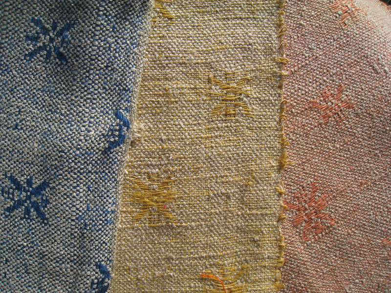 "Furnishing Fabric ""Stars"" in Three Colors"