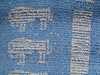 Scarf with Lion of Zurich - Detail