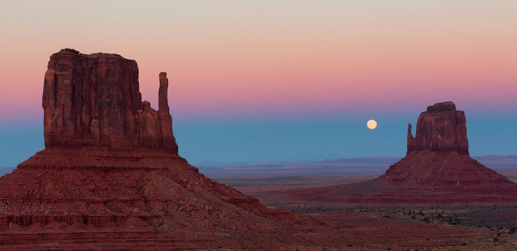 Moonrise Between Mittens