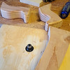 Once the edges were smoothed, I took the legs to the router table and rounded the corners.