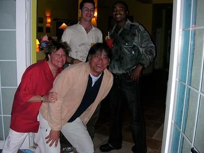 Hoodie, Kuniaki, Story, and James