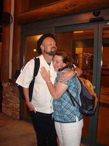 Uuno Karu and Jamona'ee hug