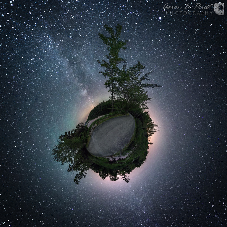 """""""Little planet"""" or stereographic projection"""