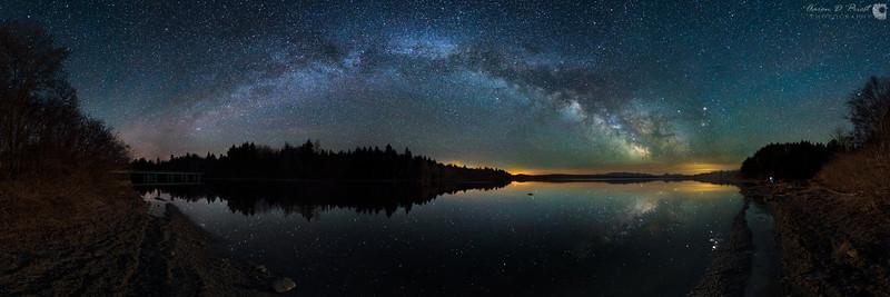 Milky Way Reflection & Moonrise
