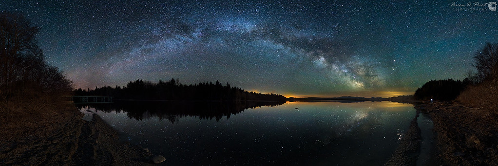 Milky Way Reflection & Moonrise