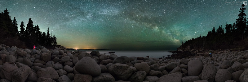 Milky Way over Boulder Beach, Acadia National Park