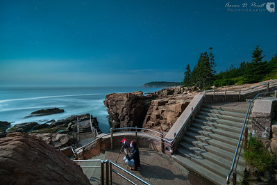 Thunder Hole by Moonlight
