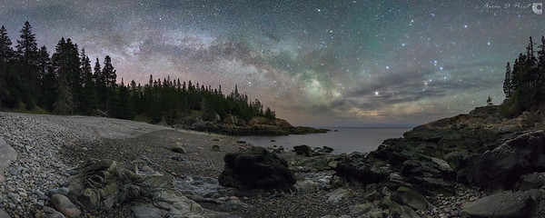 Milky Way over Little Hunters Beach