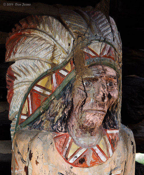 Old wooden indian, Silverton. 09/25/2019.