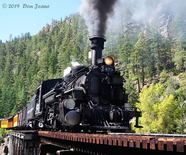 Durango & Silverton RR, High Bridge. 09/22/2019.