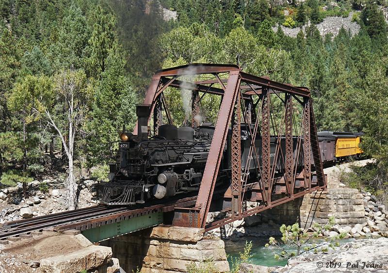 Durango & Silverton RR, Tefft Bridge.  09/22/2019.