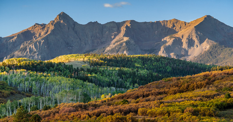 Sunrise at the Dallas Divide overlook, near Ridgway, Co.